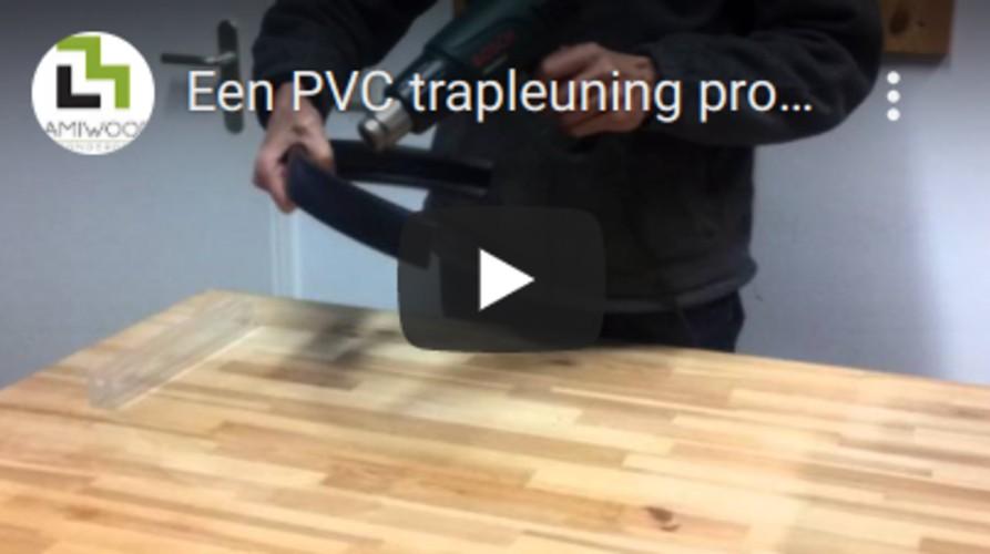 Een PVC trapleuning profiel monteren doe je zo!