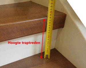 Stap 1 meet de hoogte traptrede