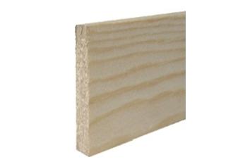 Afwerkprofiel rechthoekig grenen 10x80x2400 bundel 5 stuks