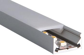 aluminium U-profiel voor led verlichting strip 2000x16x8 - Lamiwood.nl