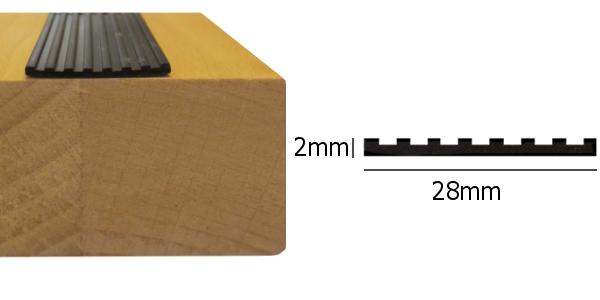 Zelfklevende anti slip strip voor trap treden zwart 15m