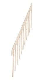 Balustrade leuning E voor steektrap medium/large