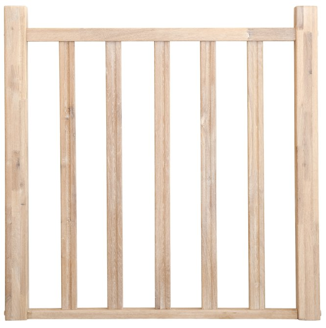 Balustrade hekwerk traditioneel model 14 1000x1000 eikenhout