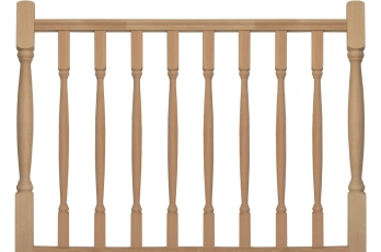 balustrade hekwerk modern model 19 3100x1000 beuken