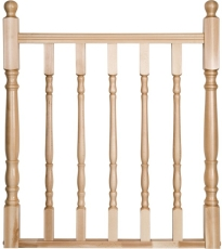 balustrade hekwerk klassiek model 9 1000x1000 beuken