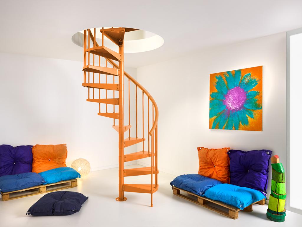 Wenteltrap oranje