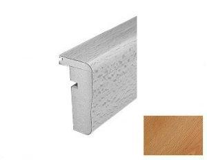 Traprenovatie begintrede 1300x65 beuken / aluminium hoek profiel