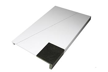 Dubbele laminaat treden traprenovatie in graniet decor