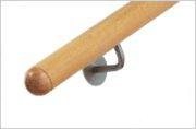 Traditionele houten ronde trapleuning