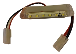 LED-verlichting 54x9mm rood