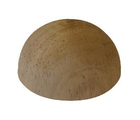 Einddop ronde trapleuning 40x20 rubberhout