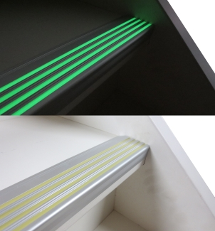 lichtgevende-aluminium infrees strip glow in the dark zilver