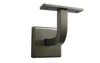 RVS leuningdrager vierkant voor een platte trapleuning