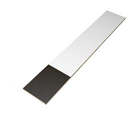 Extra materiaal stootbord 1000x190x11 rvs