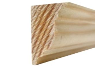 sierlijst grenen kroonlijst 20x30x2400 bundel 5 stuks