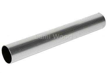 Trapleuning stalen buis 1000x35mm gelakt zilver