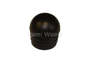 afdekdop staal omm leuning zwart rond