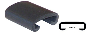 Trapleuning profiel kunststof rubber antraciet grijs