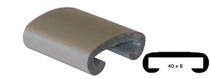 Trapleuning profiel kunststof rubber donker aluminium