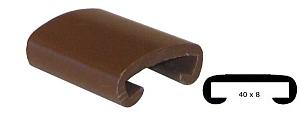Trapleuning profiel kunststof rubber donker bruin