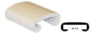 Trapleuning profiel kunststof rubber gebroken wit