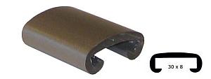 Trapleuning profiel kunststof rubber grijs 30