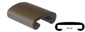 Trapleuning profiel kunststof rubber grijs 50