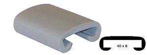 Trapleuning profiel kunststof rubber antraciet licht grijs