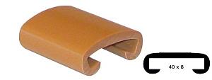 Trapleuning profiel kunststof rubber oranje goud glans