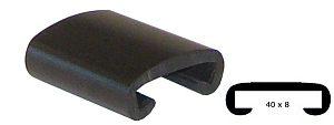 Trapleuning profiel kunststof rubber zwart 40