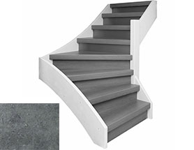 Traprenovatie complete set beton 17 treden