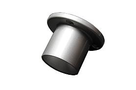 Wandafsluiting staal omm leuning zilver coating